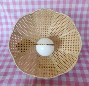 1970s Woven Rattan Pendent Shades with Rise-and-Fall Wiring