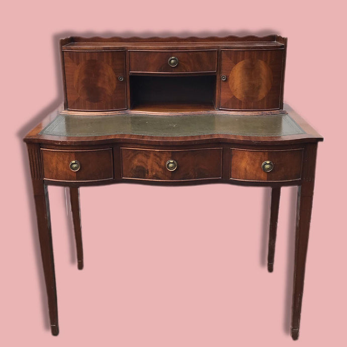 Vintage Scolloped Edged Writing Desk