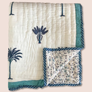 Hand Block Printed Indian Bedspread - GEORGIA