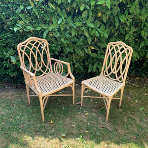 Faux Bamboo and Cane Chairs