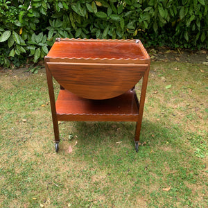 Vintage Scalloped-edge Winged Drinks Trolley