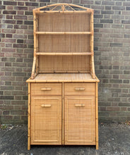 Load image into Gallery viewer, Vintage Mid-Century Bamboo Rattan Wicker Dresser