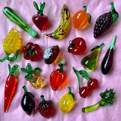 Miniature Murano Fruits & Vegetables