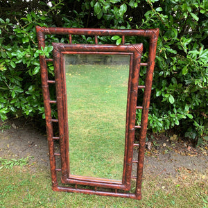 Vintage Bamboo Style Large Mirror