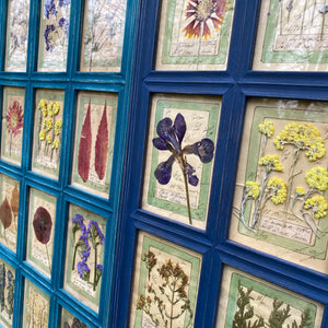 Yves Blue Handmade Pressed Flower Herbariums