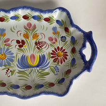 Load image into Gallery viewer, Vintage Hand Painted Quimper Faience Floral Serving Plate