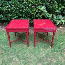 Load image into Gallery viewer, Pair of Hand Lacquered Antique Scalloped Tables