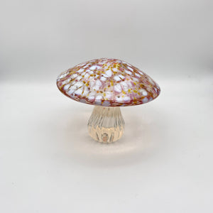 Decorative Glass Mushroom Paperweight