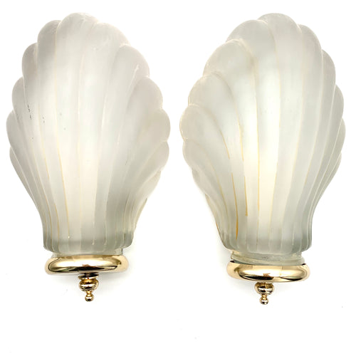 Pair Of Vintage 1960s Shell Wall Lights