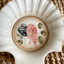 Load image into Gallery viewer, Six Ceramic Hand Painted Shell Dishes
