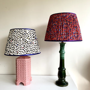 Mexican Wave Handmade Gathered Silk-lined Lampshades
