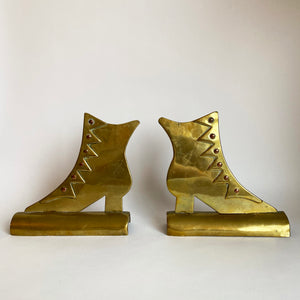 Vintage Brass Booted Bookends