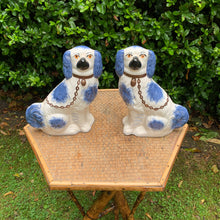 Load image into Gallery viewer, Blue Staffordshire Decorative Dogs