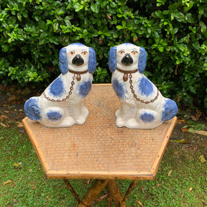 Blue Staffordshire Decorative Dogs
