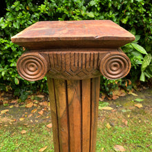 Load image into Gallery viewer, Heavy Mahogany Hand Carved Tall Column Plinth