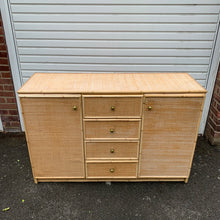 Load image into Gallery viewer, 1970s Wicker Bamboo Rattan Sideboard Cabinet