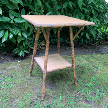 Load image into Gallery viewer, Bamboo and Seagrass Vintage Occasional Table