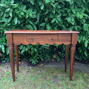 Scalloped Console Table