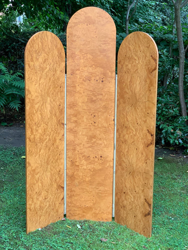 Art Deco Burr Walnut Veneer Screen Room Divider