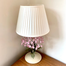 Load image into Gallery viewer, Italian Hydrangea Tole Table Lamp with Ivory Shade