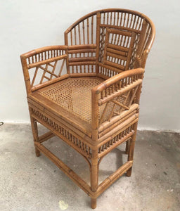 Antique Brighton Pavilion Bamboo and Cane Chair