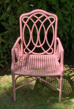 Load image into Gallery viewer, Pink Bamboo Lacquered Chair with Arms