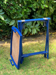 Blue Lacquered Butlers Tray