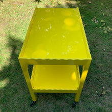 Load image into Gallery viewer, Yellow Scalloped Hand Lacquered Drinks Trolley