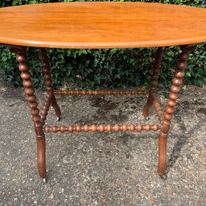 Oval Bobbin Table