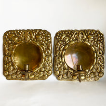 Load image into Gallery viewer, Vintage Swedish Brass Sconces