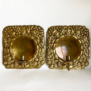 Vintage Swedish Brass Sconces