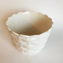 Load image into Gallery viewer, Vintage Basket Weave Ceramic Plant Pot