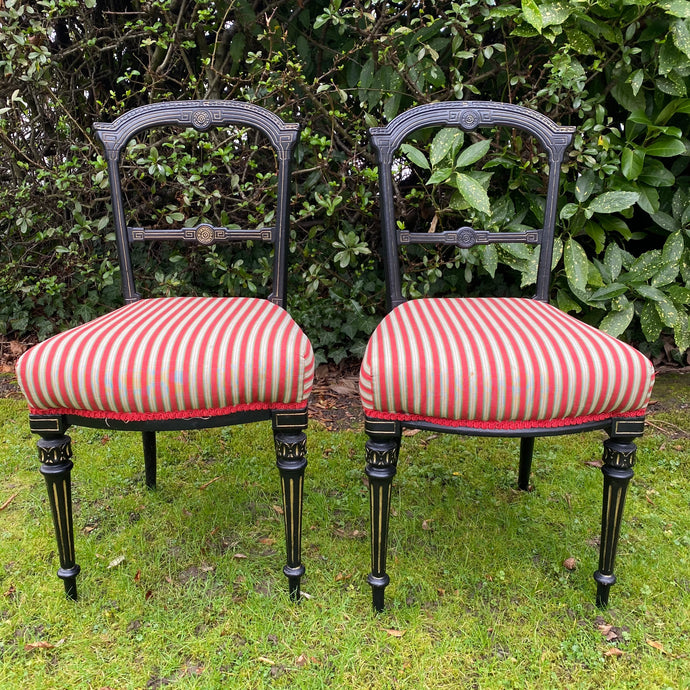 Pair of Antique Greek Key Style Occasional Chairs