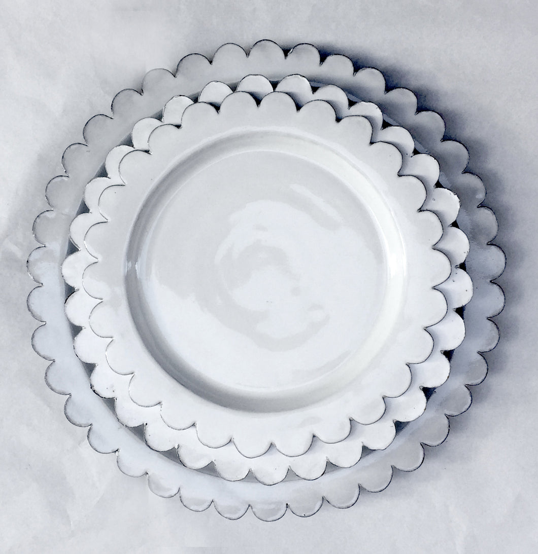 Scalloped Ceramic Plates