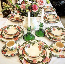 Load image into Gallery viewer, Vintage Floral Cream Dinner Set