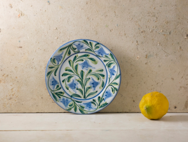 Hand Painted 'Lily' Portuguese Plates