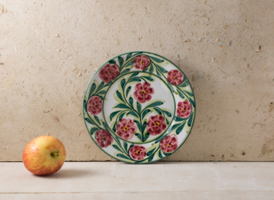 Hand Painted 'Rose' Portuguese Plates