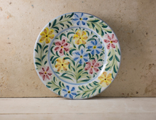Load image into Gallery viewer, Hand Painted 'Colourful Flowers' Portuguese Plates