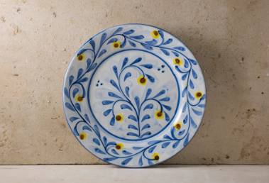 Hand Painted 'Yellow Wild Berry' Portuguese Plates