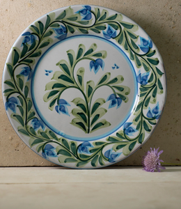 Hand Painted 'Queens Blossom' Portuguese Plates