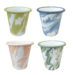 Marbled Enamel Cups Set of 4