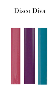 Set of 6 Lacquered Twist Candles
