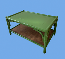 Load image into Gallery viewer, Leaf Green Bamboo Style Lacquered Coffee Table