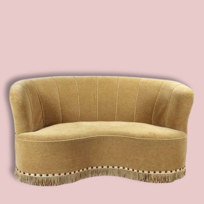1930's Danish Banana Sofa