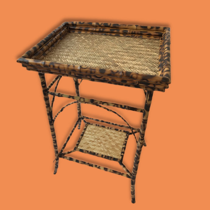 Burnt Bamboo Butlers Tray Table