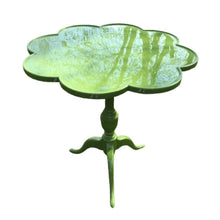 Load image into Gallery viewer, Lacquered Scalloped Shaped Leaf Green Occasional Table