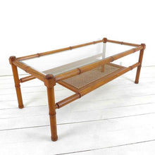 Load image into Gallery viewer, Beautiful Mid Century Bamboo and Cane Coffee Table
