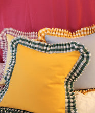 Load image into Gallery viewer, by alice x In Casa by Pa Boy Gingham ruffle Cushions