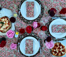 Load image into Gallery viewer, Pink Floral Tablecloth and Napkins