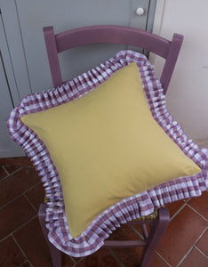 By Alice x In Casa by Pa Boy Gingham Ruffle Cushions